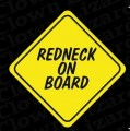 redneck on board bumper or window sticker