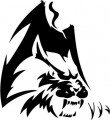 Tribal Wolf Sticker 19