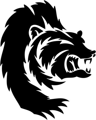 tribal of sticker tribal Bear animals Decals Tribal Sticker animals decal, tribal 04,