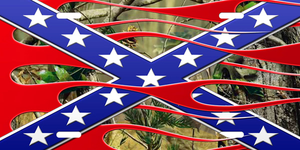 Camo Flames Rebel Flag Sticker Custom Wall Graphics