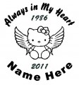 Girl Hello Kitty Circle Memory Decals