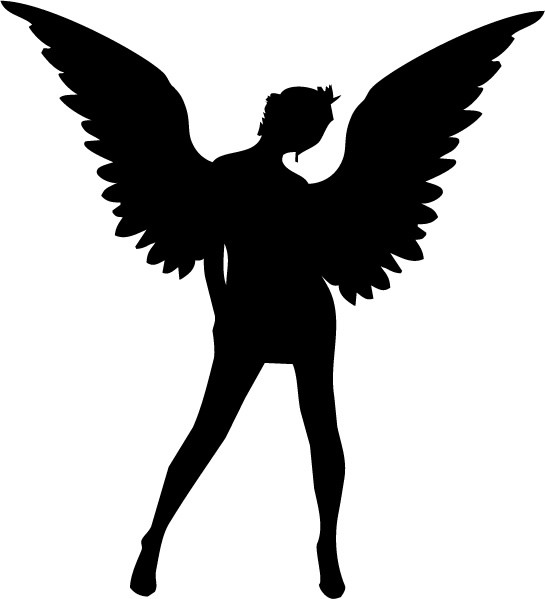 christmas angel silhouette clip art
