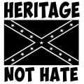 heritage not hate vinyl decal sticker with confederate rebel flag car sticker