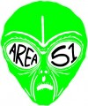 AREA 51 Alien Face Sticker