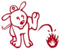 Firefighter Puppy Decal