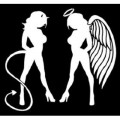 Angel and Devil Standing Decal 2