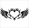 Angel Wings Decal with Heart