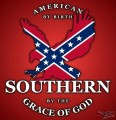 american by birth southern by the grace of god sticker