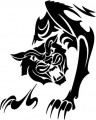 Tribal Cat Sticker Decals 15