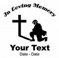 Army Pray Memory Decal