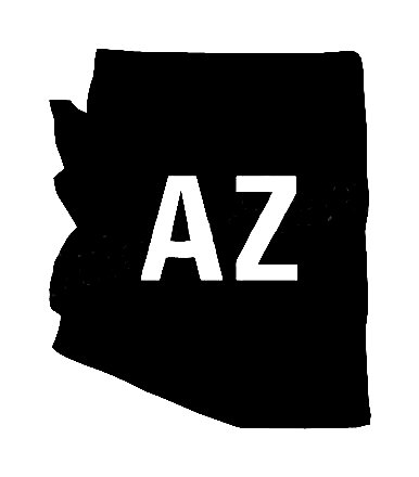 Az Us State Shape Vinyl Decal Us State Silhouette Decal