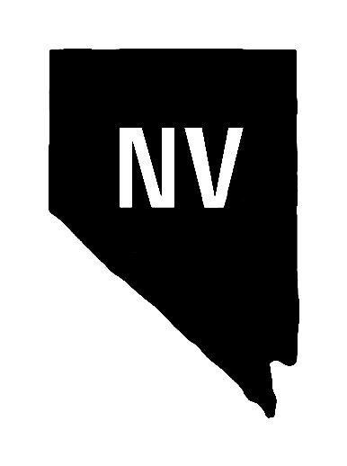 Nv Us State Shape Vinyl Decal Us State Silhouette Decal