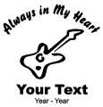 Guitar Player Always in My Heart Decals