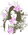 Butterfly Girl Wall Decal