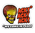 Mars Attacks Alien Car Sticker 6