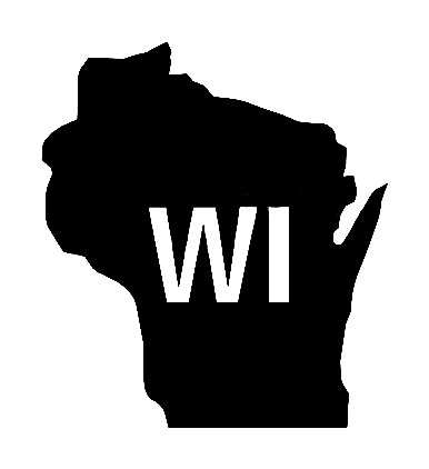 Wi Us State Shape Vinyl Decal Us State Silhouette Decal