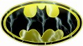Batman Oval Lightning Wall Sticker