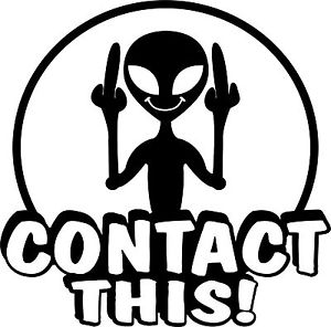 Alien Contact This Ufo Sticker Decal Custom Wall Graphics