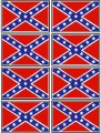 confederate flag sticker set - 8 total