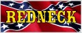REDNECK Rebel Battle Flag Sticker