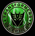 1 BADGE DECAL Lightning Decepticon