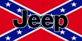 rebel flag with jeep text in black sticker