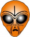 Alien Head Sticker 7