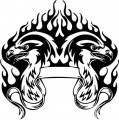 Tribal Eagle Stickers 13