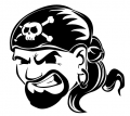 Pirate with Skull Bandana Decal