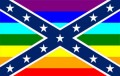 gay rebel flag sticker