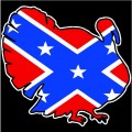 redneck confederate flag redneck turkey sticker