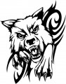 Tribal Wolf Sticker 43