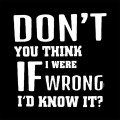 if i were wrong die cut decal