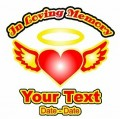 Heart and Wings Color Memory Decal