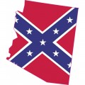 rebel flag arizona confederate rebel flag bumper sticker decal window stickers decal