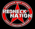 redneck nation star round sticker