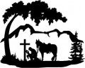Cowboy Gravesite Wall Decal