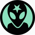 Alien Color Circular Sticker