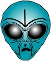 Alien Head Sticker 10