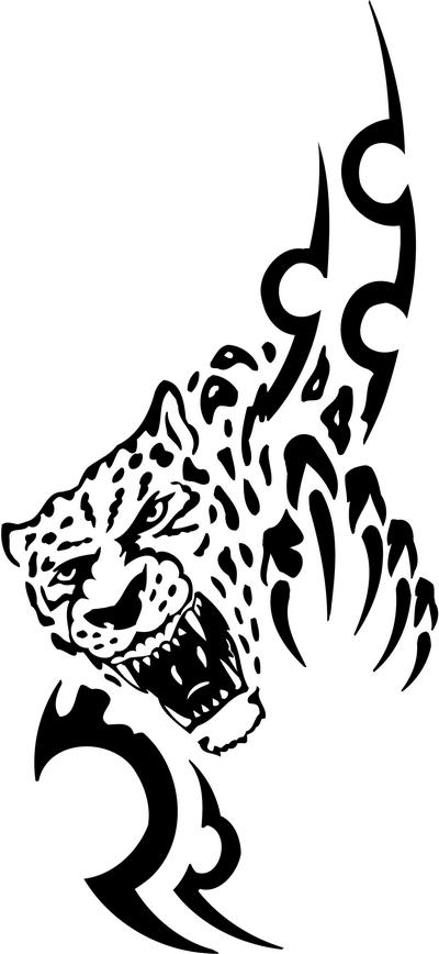 Tribal Cat Sticker Decals 44 Tribal Animals Decal Tribal