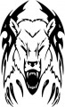 Tribal Bear Sticker Decals 13