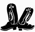 Cowboy Boots Decal 2