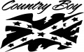 country boy rebel flag die cut decal