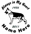 Dog German Shepherd Circle Decals