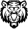 Tribal Tiger Stickers 02