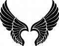 Angle Wings Decal 3