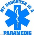 EMT Daughter Is A Paramedic Decal