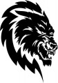 Tribal Wolf Sticker 20