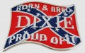 Belt Buckle Design Born and Bred Sticker