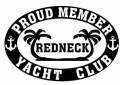 Redneck Yacht Club vinyl sticker